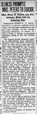 Bessie Peters (nee Culbertson), death by suicide - Newspapers.com