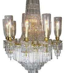 french 19th 20th century gilt bronze and baccarat chandelier from the spelling manor for