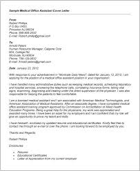 Resume Cover Letter Samples For Medical Office Cover Letter