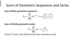 sums of geometric sequences and series overview