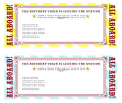 Train Ticket Template Word Free Event Printable Templates