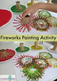 fireworks painting activity great new year s or other celebrations activity