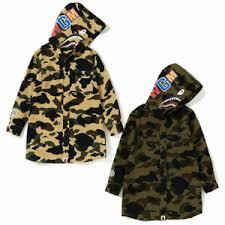 Details About A Bathing Ape Bape Kids 1st Camo Shark Hoodie Onepiece Dress 2colors Japan New