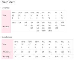 Victoria Secret Bra Measurement Chart Victoria Secret Swim Size Chart About Foto Swim 2019