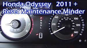 honda odyssey reset maintenance minder 2016 2017