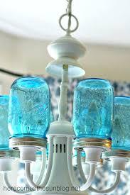 cool mason jar outdoor lighting ball jar light blue mason jar chandelier detail installed ball jar