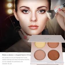 whole brown white shimmer face glow brighten concealer palette base minerals makeup bronzers highlighters contour powder makeup s makeup s
