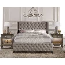upholstered beds. Unique Beds Memphis Upholstered Bed In Textured Pewter And Beds Humble Abode