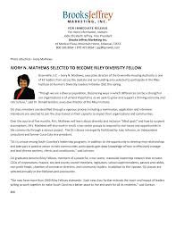 Ivory N. Mathews Selected to Become Riley Diversity Fellow