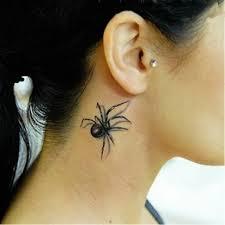 1ks Nové Dočasné Tetování Krk Zápěstí Rameno Tetování Krásný černý Pavouk Tělo Tetování Falešná Tetování 17 16 Cm