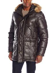 Tommy Hilfiger Men's Faux Leather Quilted Parka at Amazon Men's ... & Tommy Hilfiger Men's Faux Leather Quilted Parka Adamdwight.com