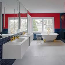 Image Comfort Room Inspiration For Contemporary Master Blue Tile And Subway Tile Gray Floor Clawfoot Bathtub Houzz 75 Most Popular Contemporary Bathroom Design Ideas For 2019