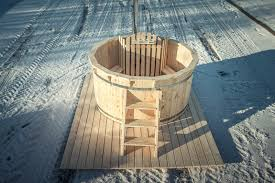 test diy wooden hot tub wood burning