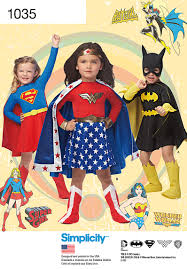 Wonder Woman Costume Pattern Gorgeous Simplicity 48 Child's Wonder Woman Supergirl Batgirl Costumes