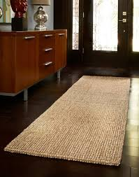 awesome seagrass rugs runner with dark wood flooring also sideboard with front entry door and sidelights