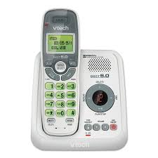 vtech cs6124 dect 6 0 cordless phone with answering system and caller id call waiting