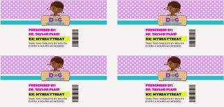 Template 8163 Printable Pill Bottle Labels Doc Mcstuffins Birthday Party