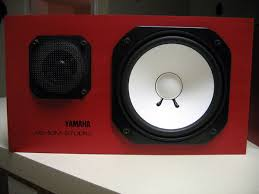 yamaha ns10. i had to drop some extra cash replace the woofers as they been water damaged. my boy did all repair on wood paneling and lacquering. yamaha ns10