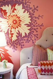 bedroom wall ideas for teenage girls. Exellent Teenage View In Gallery Bold Patterns Make Wonderful Focal Points Any Dcor  To Bedroom Wall Ideas For Teenage Girls