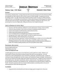 Er Nurse Job Description For Resume