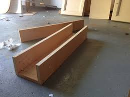 it was similar to pallet wood just a few even cuts wood glue some s and paint and i had myself a long narrow wood box