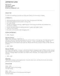 Child Care Resume Samples Scottcrosler Enchanting Childcare Resume