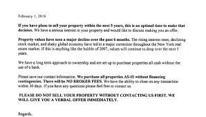 letter urges homeowners to sell due to major correction real estate crash brooklyn williamsburg letter 2 1