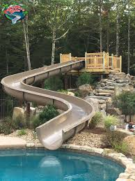 In ground pools with slides Fibreglass Above Ground Pool Slides Buyers Guide Airkhruang Residential Swimming Pool Water Slides Exciting In Ground Swimming