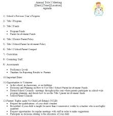 Board Meeting Agenda Template Parent Teacher Conference Sample ...