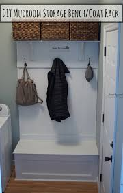 Mudroom Coat Rack Mesmerizing DIY Mudroom Storage Bench And Coat Rack