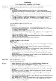 Operations Manager Resume Examples Technical Operations Manager Resume Samples Velvet Jobs 29