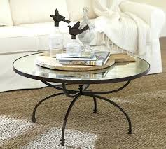 pottery barn glass coffee table tanner