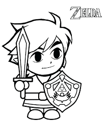 Link Coloring Pages The Legend Of Coloring Pages Link Inside