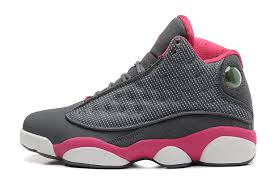 jordan shoes for girls 2014 black and white. girls air jordan 13 retro cool grey fusion pink white for sale-8 shoes 2014 black and