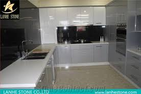 chemical and stain resistant china white quartz stone polished surfaces kitchen countertops with bevel edges and customized edges available 2 3cm thick