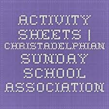 Yesss Activity Sheets Christadelphian Sunday School