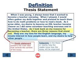 thesis statement ppt 4 definition thesis statement