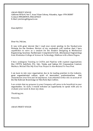 Mechanical Engineering Cover Letters Cover Letter For Mechanical