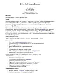 Accounting Specialist Resume Objective Sample Resume Medical