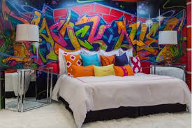 Bedroom Design Ideas-Home and Garden Design Ideas, Graffiti wall art kids  bedroom