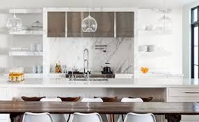 modern kitchen marble backsplash. Perfect Modern Marble Slab Kitchen With Modern Backsplash M