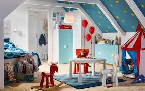 ikea girls bedroom furniture. A Blue, Red And White Circus Themed Children\u0027s Bedroom With STUVA/FRITIDS Wardrobe In Ikea Girls Furniture