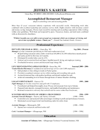 Download Restaurant Manager Resume Activetraining Me