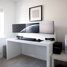 desk captivating gaming computer desks gaming desk with crisp white painted wall and painting
