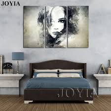 wall decor canvas painting watercolor black and white art woman face abstract print set bedroom decoration paintings not framed in painting calligraphy