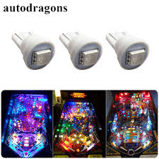 Blue Light Bulbs Bulk Us 36 88 Autodragons 100 Pack Bulk 5050 Smd 6 3v Ac 555 Wedge Base Pinball Led No Ghosts Non Flickering Pinball Bulb In Car Headlight Bulbs Led