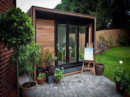 office gardens. garden office like the canopy over bifold doors and small terrace under them so bifolds gardens d