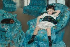 <b>Little Girl</b> in a Blue Armchair