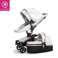 aulon strollers folding bi directional high landscape stroller artificial leather 0