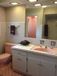 Retero Renovation remodel inspriation- vintage-pink-and-grey-bathroom-1950